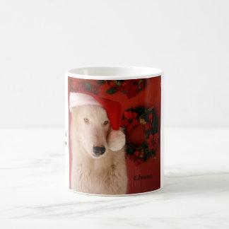 Santa's Winter Wolfland White Mug
