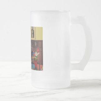 Santa's Wire Fox Terrier (#3) Coffee Mugs