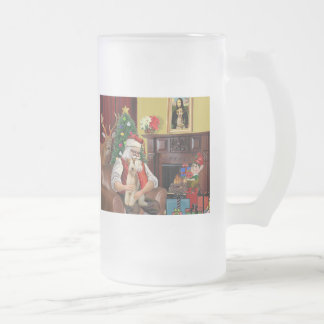 Santa's Wire Fox Terrier (#3) Mug