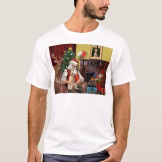 Santa's Wire Fox Terrier (#3) T-Shirt