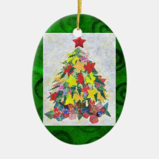 Santa's Work is Done Ceramic Ornament