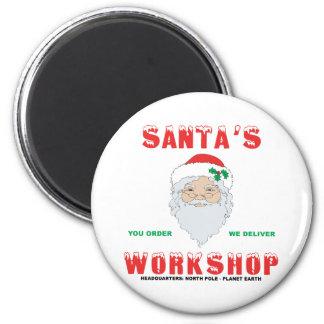 Santa's Workshop 2 Inch Round Magnet
