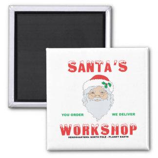 Santa's Workshop 2 Inch Square Magnet