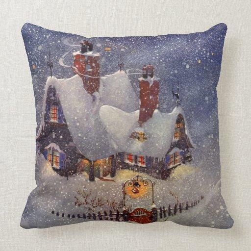 Мастерская Санта Клауса на Северном полюсе, канун Рождества подушка