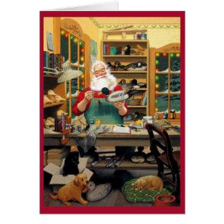 Santa's Workshop Greeting Card