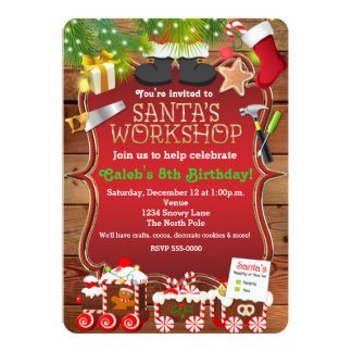 Santa's Workshop Christmas Party Invitation