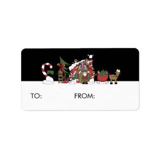 Santa's Workshop Gift Tags Address Label