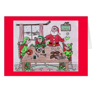 Santas Workshop Holiday Card