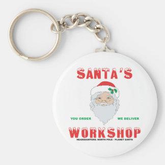 Santa's Workshop Keychain