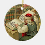 Santa's workshop ornament