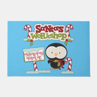 Santa's Workshop Penguin Doormat