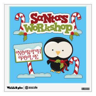 Santa's Workshop Penguin Wall Decal