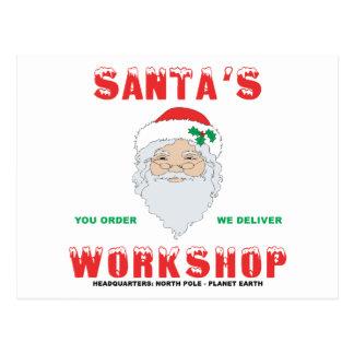 Santa's Workshop Postcard