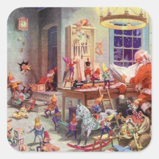 Santas Workshop Square Sticker
