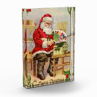 Santa's Workshop vintage illustration Acrylic Award
