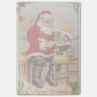 Santa's Workshop vintage illustration Post-it® Notes