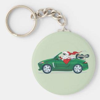 Santa's World Tour Convertible Basic Round Button Keychain