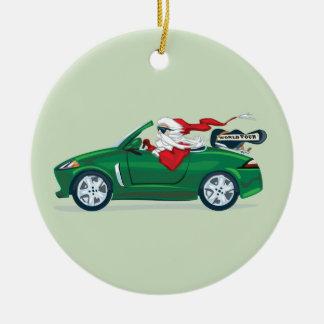 Santa's World Tour Convertible Ceramic Ornament