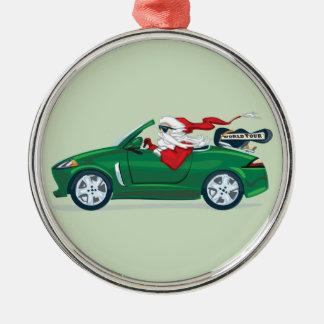 Santa's World Tour Convertible Metal Ornament
