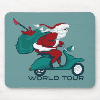 Santa's World Tour Scooter Mouse Pad