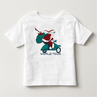 Santa's World Tour Scooter T Shirt