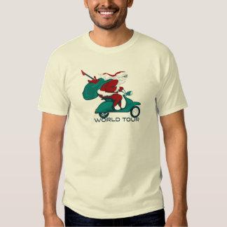 Santa's World Tour Scooter Tee Shirt