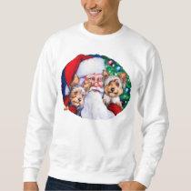 Santa's Yorkies at Christmas Sweatshirt