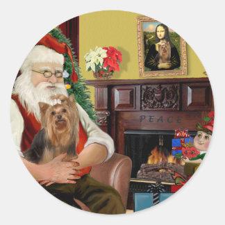 Santa's Yorkshire Terrier #7 Sticker