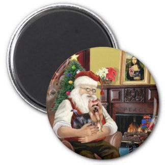 Santa's Yorkshire Terrier #9 Magnet