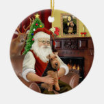 Santas's Welsh Terrier Ceramic Ornament