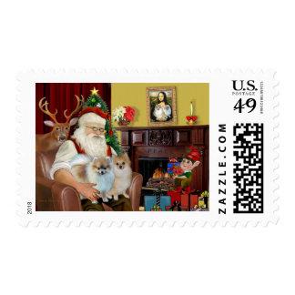 Santa'sTwo Pomeranians Postage