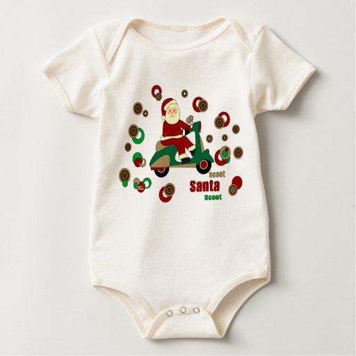SantaT-Camisa de la vespa Mamelucos De Bebé