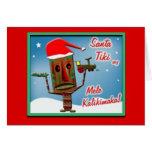 SantaTikiSay-Greeting Card