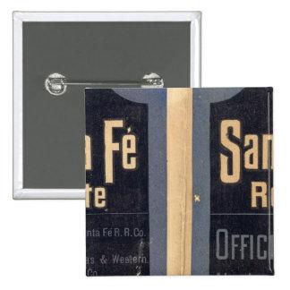 Sante Fe Route, California Pinback Button