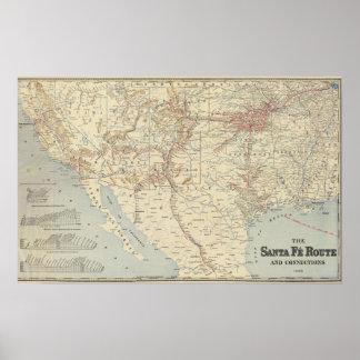 Sante Fe Route, California Poster
