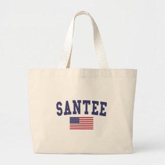 Santee US Flag Large Tote Bag