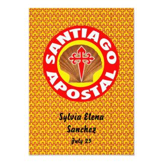 """Santiago Apostal invita Invitación 5"""" X 7"""""""