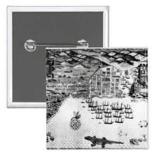 Santiago, Cabo Verde, 1589 Pin Cuadrado