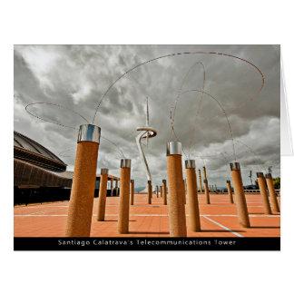 Santiago Calatrava's Telecommunications Tower Tarjeton