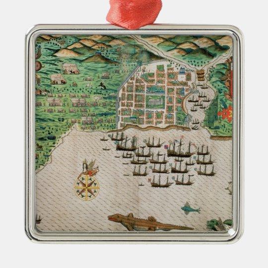 Santiago, Cape Verde, 1589 2 Metal Ornament