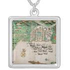 Santiago, Cape Verde, 1589 2 Silver Plated Necklace