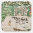 Santiago, Cape Verde, 1589 2 Square Sticker