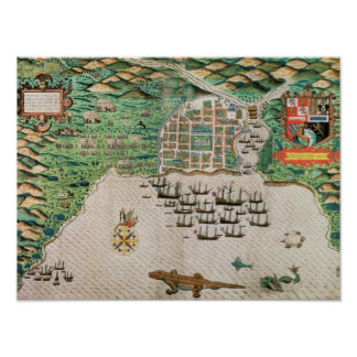 Santiago, Cape Verde, 1589 Poster