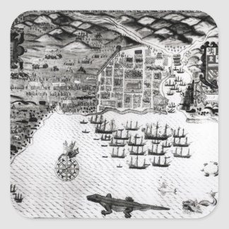 Santiago, Cape Verde, 1589 Square Sticker