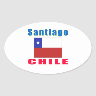 Santiago Chile capital designs Oval Sticker