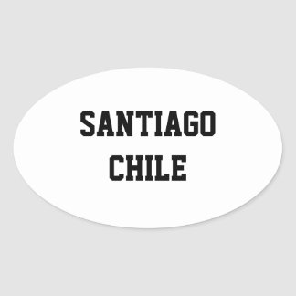 Santiago Chile oval stickers