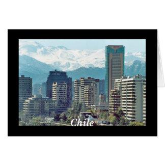 Santiago, Chile Tarjeta De Felicitación