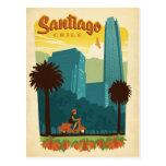 Santiago, Chile Tarjeta Postal