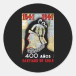 Santiago De Chile Classic Round Sticker