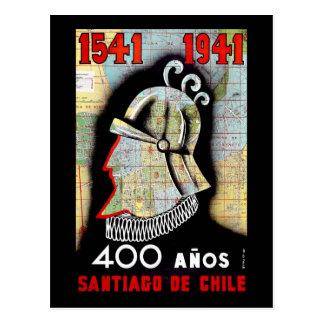 Santiago De Chile Tarjeta Postal